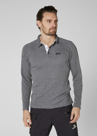 Polo HELLY HANSEN HP SHORE LS RUGGER 53021 szare